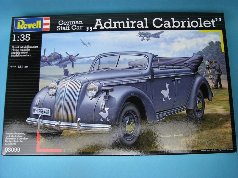 Opel Admiral Cabriolet German Staff car 1:35 Revell